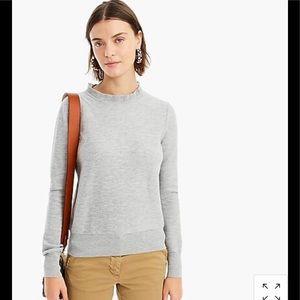 J Crew Ruffle Neck Sweater